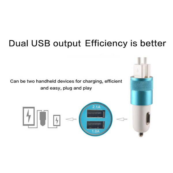 For IPhone Plus iPad iPod Samsung Galaxy S6 Car Charger Mini Dual USB Port OEM Car Charger Cell Phone Fast Charger Universal Adapter