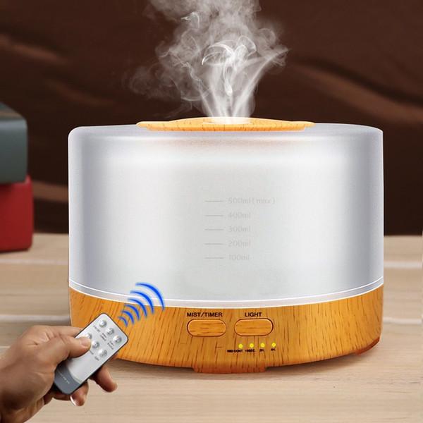 Портативный эфирное масло диффузор увлажнитель воздуха пульт дистанционного управления 500 мл Coloful ультразвуковой создатель тумана Fogger ультразвуковой аромат диффузор