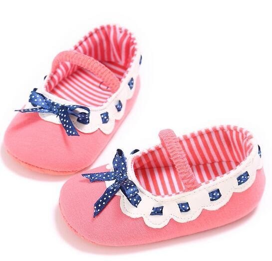 Summer Baby Girl Crib bowknot hoes Cotton Fabric Striped Baby First Walkers Fashion Infant Girls Shoes Newborn Toddler Princess Shoes