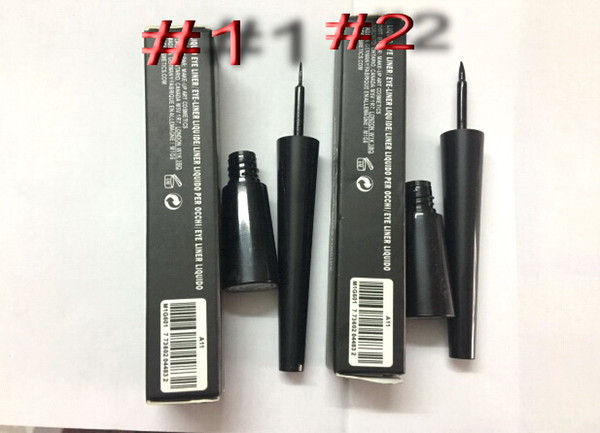 best selling DHL free shipping HOT new makeup top quality #1.#2 black Waterproof Liquid eyeliner 2.5ml