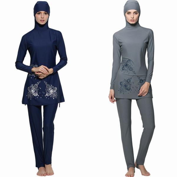 c5740fd1e948c Full 2017 Cover Islamic Swimwear Women Modest Full Cover Arab Beach Wear  Hijab Swimsuit Swimwear Burkinis