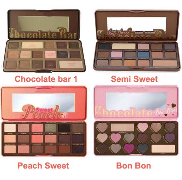 best selling Best Quality !!!Brand Makeup Palette Sweet Peach Eye Shadow Chocolate Bar Eyeshadow with Bar semi Sweet Bon bon Smell Palette 16&18 colors