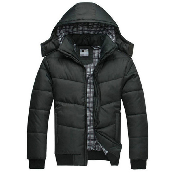Venta al por mayor- 2016 nueva chaqueta de invierno Grueso Mantener caliente Relajación térmica Costilla Abrigo de manga larga Parka Hombres Aire libre con capucha Chaquetas extraíbles Parka