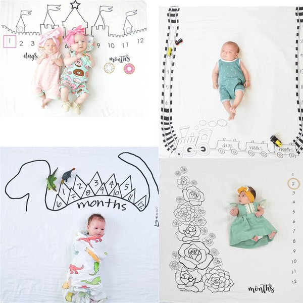 Ins Neonato Fotografia Sfondo Puntelli Coperte per neonati Stuoia di stoffa adorabile Baby Lay per sfondi tessuto fotografico