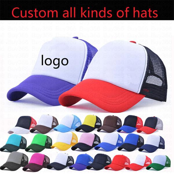 Trucker Caps Publicidad Sun Mesh Cap Election Hats Actividades en blanco  Snapback Truck Caps Factory Custom LOGO Hombres Mujeres Béisbol Flat Hat ec79439326f