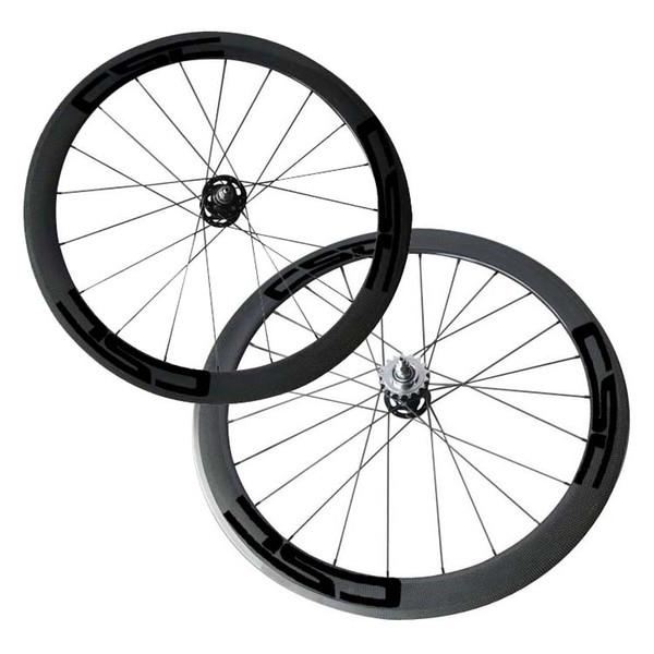 Fix Gear Wheels 50mm Clincher track carbon wheelset CSC Flip Flop bike wheels 165SBT/166SBT Hubs Hot Sale