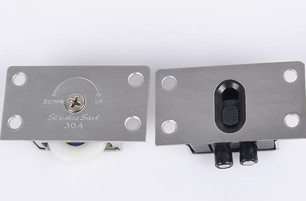 top popular 338 stainless steel copper core wardrobe door pulley wheel sliding door 2021