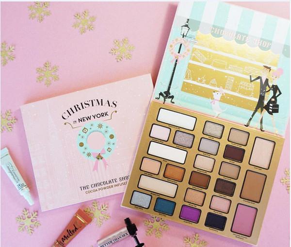 Das Schokoladengeschäft Make-up Set 21 Lidschatten 2 Gesicht Bronzer 1 Erröten Weihnachten In New York Urlaub Kosmetik-Kollektion Versandkostenfrei