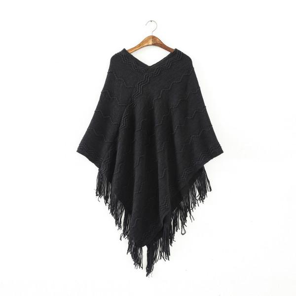 Großhandels-Frauen-Flügel-Kap-Poncho-Strickoberseiten-Pullover-Strickjacke-Mantel Outwear