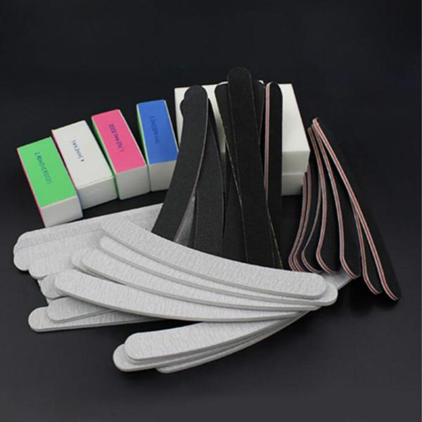 13 PCS / ensemble Ponçage Fichiers Tampon Bloc Nail Art Salon Manucure Pédicure Outils UV Gel Ensemble Kits bas prix en gros livraison gratuite