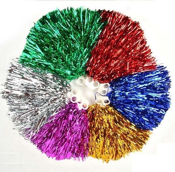 Nouvelle arrivée 25g boule de couleur pom-pom girl aérobic cérémonie d'ouverture de danse carrée proclamée acclamations pompon, produits de pom-pom girl 6 couleurs
