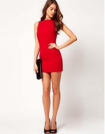best selling Free shipping Red dew back bow dress decorated winter