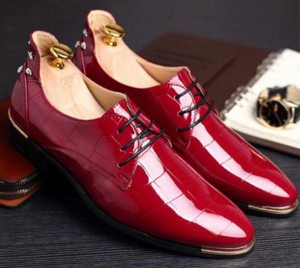 Arbeiten Sie italienischer Designer formale Mens, die rotes Kleid beschuht, unteres echtes Lederschwarzes Luxuxhochzeitsmannesschuh-Büro Größe 37-48 um