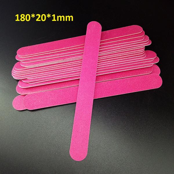 Wholesale- 50pcs 180/180 Nail Files Wood Chips Nail Art File Nails Polish Tools Nail Accessories Blue Color Sanding File Buffer Block
