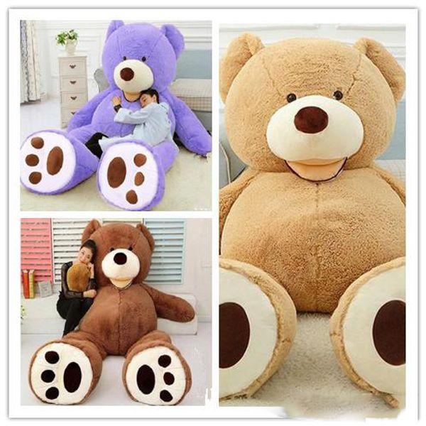 American big Teddy plush Bear Skin factory price light Dark brown Purple pink white 100cm 130cm 160cm 200cm 260cm 340cm Round Squint eye