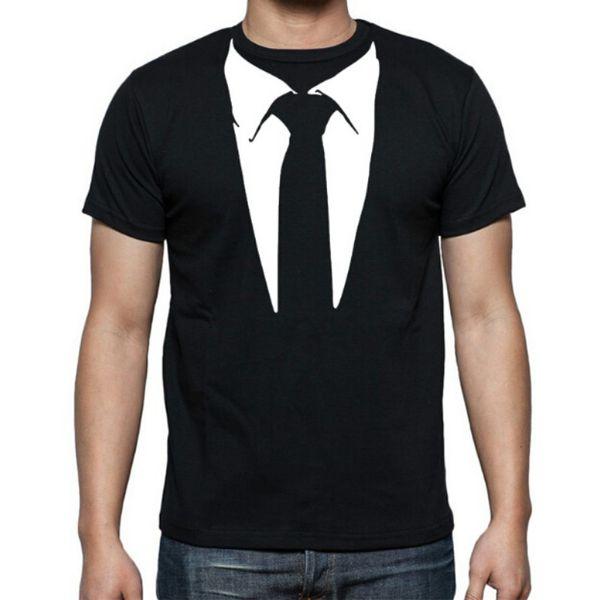 Neue Neuheit Männer T Shirts Smoking Tees Retro Krawatte Lustige Camisetas Männer O Neck Top T-shirt Lässige Fitness Herrenbekleidung