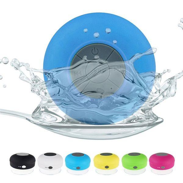 Altavoz Bluetooth inalámbrico portátil resistente al agua Ducha Coche Manos libres Recibir llamada mini Teléfono de succión IPX4 caja de altavoces jugador