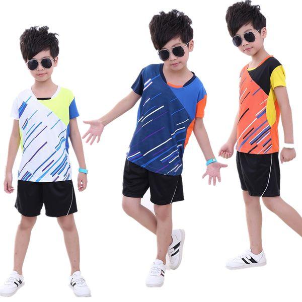 New boy/girl children badminton suit sportswear T-shirt shorts,air dry table tennis jerseys trainning clothes,tennis drying (shirt + shorts)