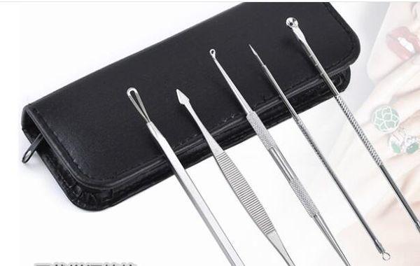 200set5Pcs/set Blackhead Pimple Blemish Extractor Remover Tools Black Head Acne Remover Needle Facial Tool Kit Set Make Up Skin Care Product