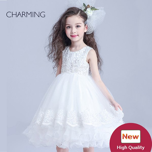 flowers girls hite dresses for little girls dresses for weddings flower girl gown from china buy wholesale products high quality