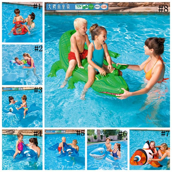 kids Inflatable Pool Float Raft Boat Summer Outdoor Swimming Pool Party Lounge Raft Ride-On Water Toys 100pcs OOA2071