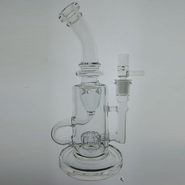 Real picture Glass Bong Klein Function Glass Water Pipe oil rigs vortex incycler Smoking water Pipe Recycler Rigs 14 mm Joint