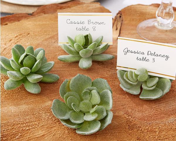 100 adet / grup Doğal Tasarım Yeşil Etli Yeri Kart Sahipleri Masa Numarası Tutucu WeddingBridal Duş Iyilik ÜCRETSIZ KARGO