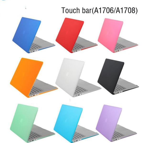 Custodia in cristallo nero opaco per il 2016 Nuova custodia per MacBook Pro 13 15 adattabile A1706 A1707 Touch Bar A1708