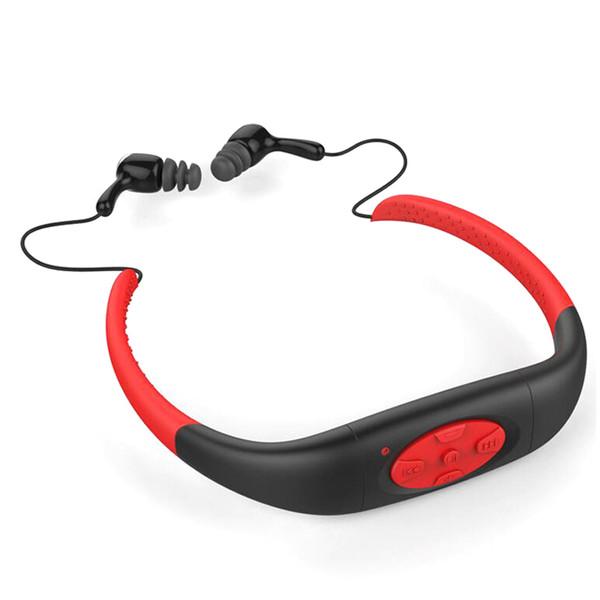All'ingrosso- Queenview Impermeabile IPX8 Cuffie da nuoto Sport Cuffie stereo MP3 Lettore musicale Auricolare con radio FM da 8 GB di memoria integrata