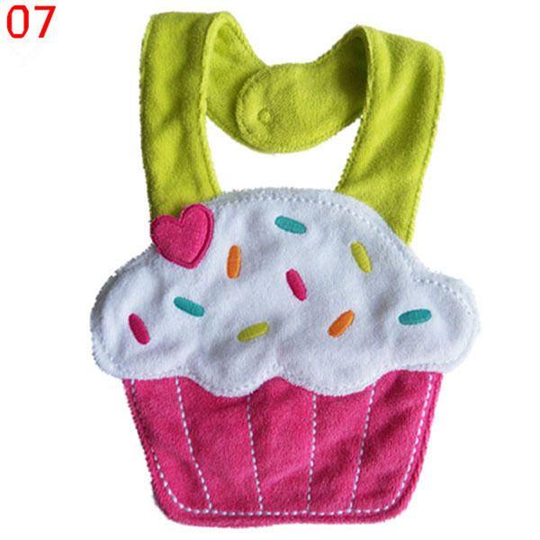 Wholesale- Kids Girl Boy Animal Saliva Towel Waterproof Lunch Bibs Newborn Toddler BIbs Hot Selling
