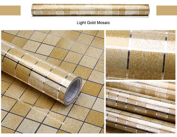 Mosaico de ouro claro