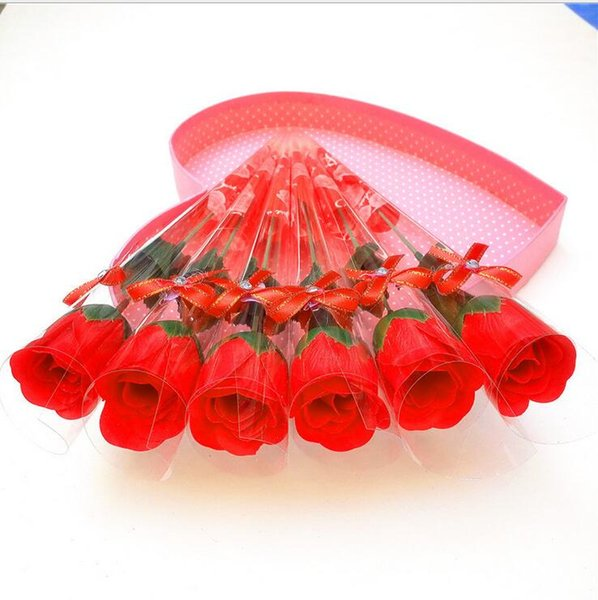 40pcs Simulated Single Rose Soap Flower Creative Soap Decorative Flower Wreaths Practical Valentine 's Day Gift Event & Party Supplies