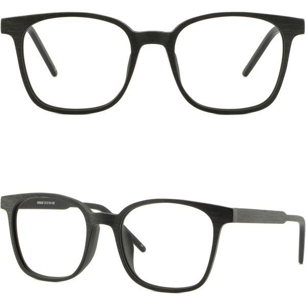 Brillengestell Fassung Gestell Brillengestell Brille Siyah Kare Mens Womens Çerçeve Plastik Sahte Ahşap Asetat Gözlük