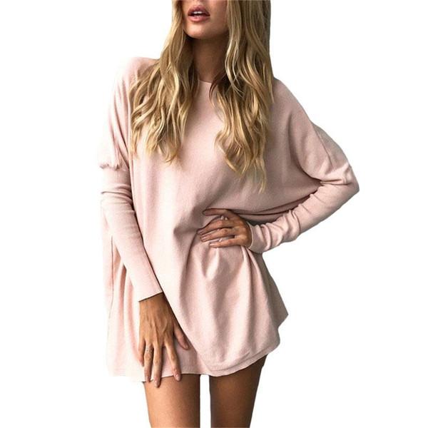 6249e3e5f6a dolman long sleeve tops Promo Codes - Women T-Shirt 2017 Spring Autumn  Casual Solid