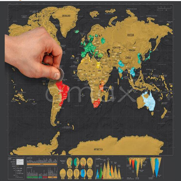 Deluxe scratch map luxury mini scratch world map 42330cm dhl deluxe scratch map luxury mini scratch world map 42330cm dhl travel gift business wall gumiabroncs Image collections