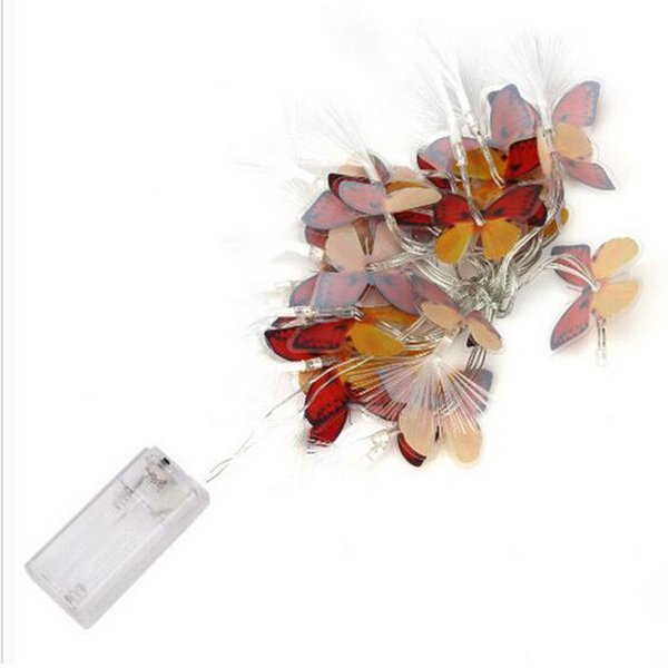 Butterfly LED Battery Box Light String Battery Christmas Light String LED Holiday Christmas Lantern free shipping
