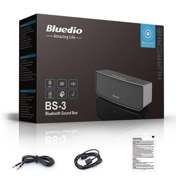 Wholesale- Big BASS Bluedio BS-3 Camel Bluetooth speaker Portable Wireless speaker Home Theater Party Speaker Sound System 3D stereo Music