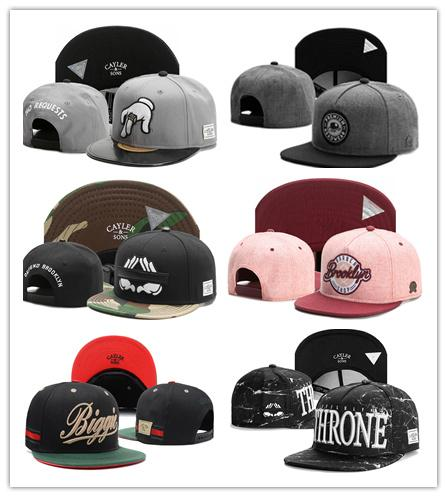 2017 Hot selling Snapbacks Ball Hats Fashion Street Headwear adjustable size Cayler & Sons custom football baseball caps top quality