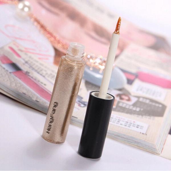 Nuevo Shiny Eye Liner Brillo Eyeshadow Liquid Shining Eyeliner Bronzer Gold Shimmer Maquiagem Envío gratis