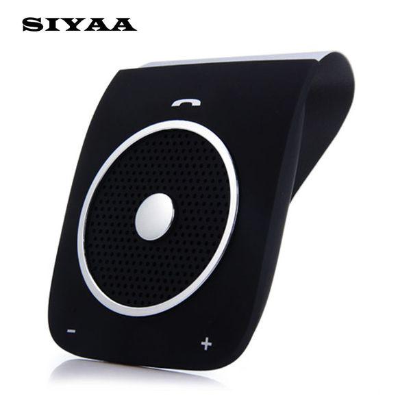 Vente en gros-Nouveau Stéréo Bass Haut-Parleur Bluetooth Voiture Kit Mains Libres Sunvisor Sans Fil Handfree Voiture Bluetooth Téléphone Haut-Parleur Bluetooth V4.0