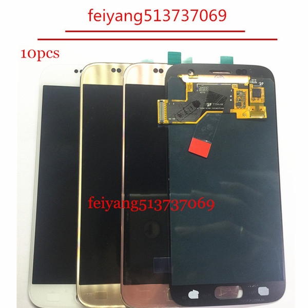 10 pcs original para samsung galaxy s7 g930a g930a g930a g930v g930t g930t g930r4 g930w8 display lcd com tela de toque digitador assembléia