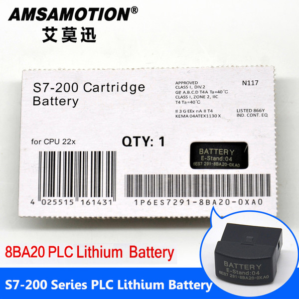 top popular Good Quality Amsamotion Battery 6ES7291-8BA20-0XA0 Suitable Siemens S7-200 PLC 2V Lithium Battery Card With Free shipping 2021