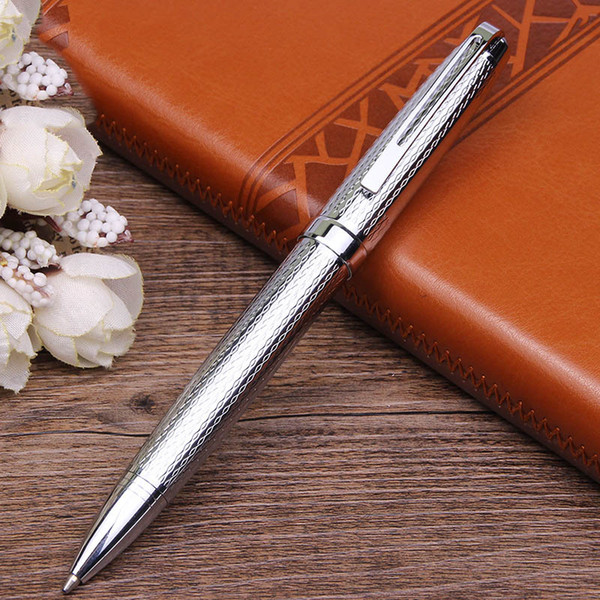 Creative Business Woven Ballpoint Pen Metal Stainless Steel Wire Ball Pen for Writing Supplies Customized Ballpoint Pens Y009