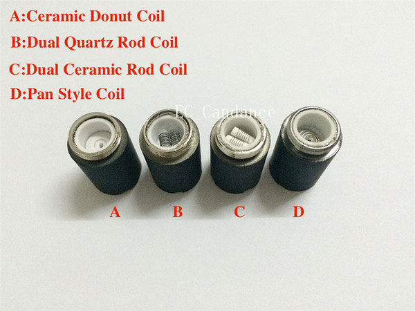 Skillet Atomizer quartz Core Skillet Ceramic Rod Coils Wax ceramic donut Coil Head for replacement Skillet Wax tank Dual Coil