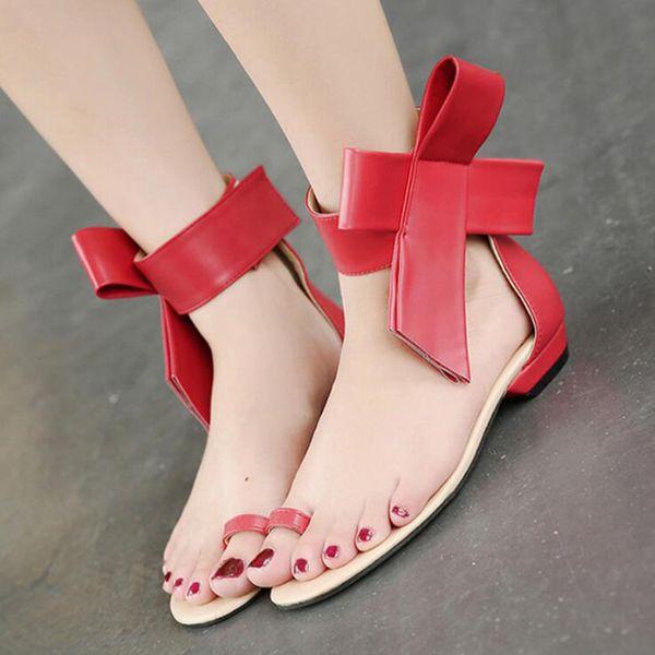 2017 de gran tamaño arco grandes flores tanga clip punta del dedo del pie talón abierto sandalias de punta de tobillo correa de la moda clásica pista streetwear zapatos