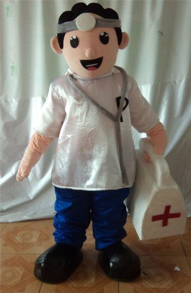SX0727 100% réactions positives du docteur en costume de mascotte pour adulte