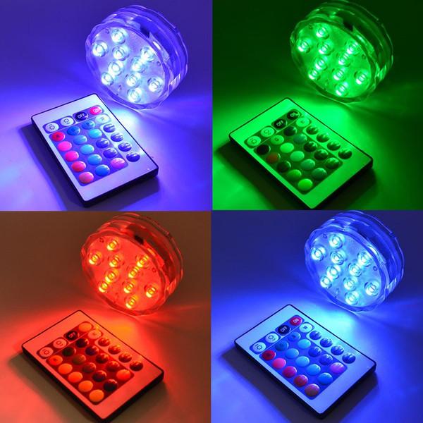 RGB LED Unterwasserlicht IP68 Wasserdichte LED Schwimmbecken Licht LED Teich Tauch Licht für Hochzeitsparty Piscina Aquarium