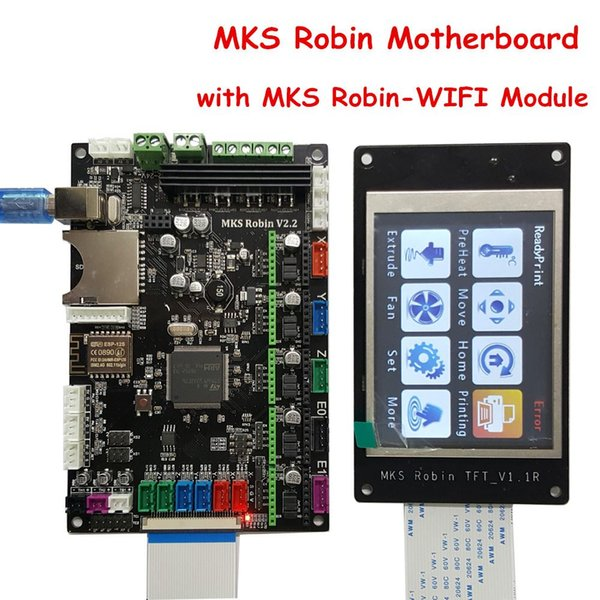 Freeshipping 3D Printer Parts MKS Robin V2.2 Controller Motherboard with Robin TFT32 Display closed source software+MKS Robin-WIFI Module