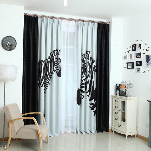 literatura y arte modernos cortina de encargo de la cebra blanco y negro simple la manera