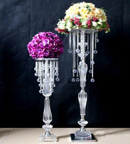 10 pcs 70 cm acrílico cristal peça central do casamento decoração do casamento da estrada chumbo, decoração do partido